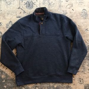 Orvis 1/4 zip pullover large blue